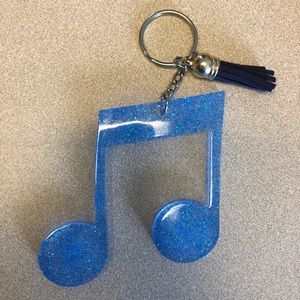 Handmade Music Note Keychain